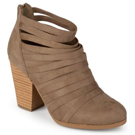3d0184608808 Journee Collection - Journee Collection Women s  Selena  Faux Suede Strappy  Ankle Booties Grey- 7.5 - Walmart.com