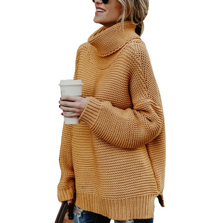 e8f0ab906 Sexy Dance - Women Winter Warm Turtleneck Chunky Knitted Sweater ...