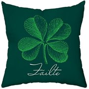 Checkerboard Decorative Throw Pillow, 16 by 16-Inch, Luck of The Irish