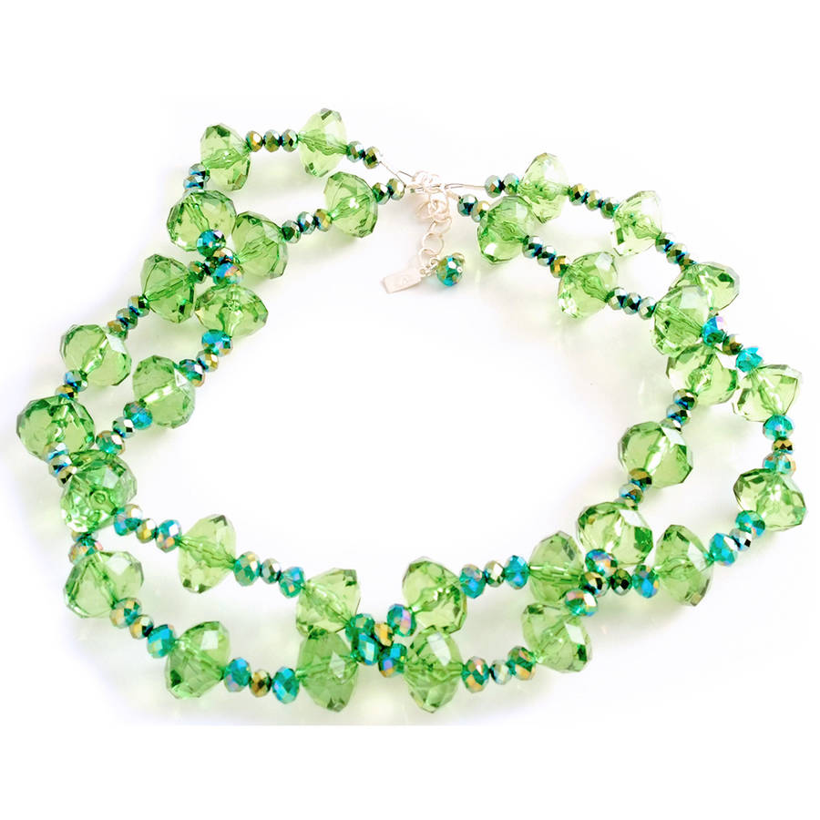 Green with Envy Necklace by Women's Bean Project