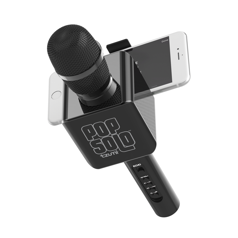 Tzumi PopSolo Wireless Bluetooth Karaoke Microphone (Rose Gold)