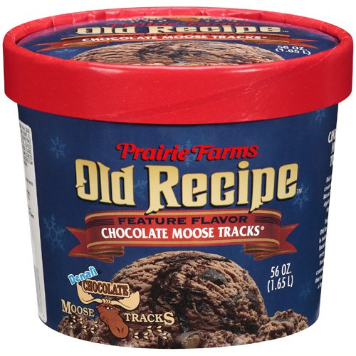 Prairie Farms Old Recipe Chocolate Moose Tracks Ice Cream, 56 oz