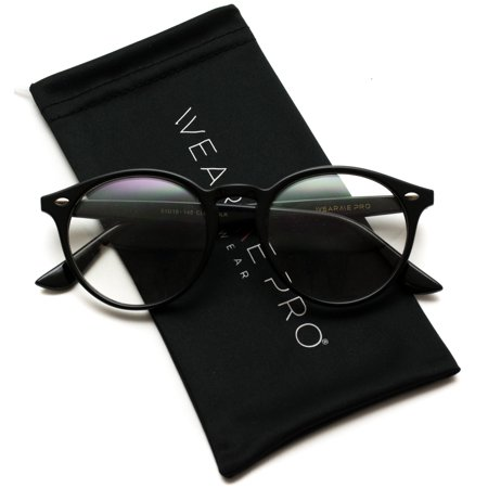 WearMe Pro - Prescription Round Clear Lens Plastic Fashion Glasses