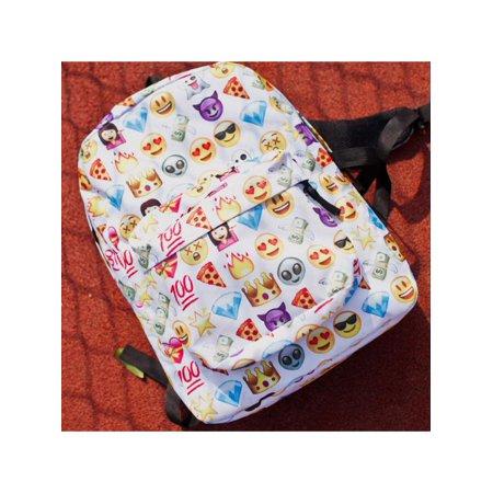 Cute Emoji Backpack School Book Backpack Shoulder Bag Schoolbag Outdoor Daypack for Girls Boys
