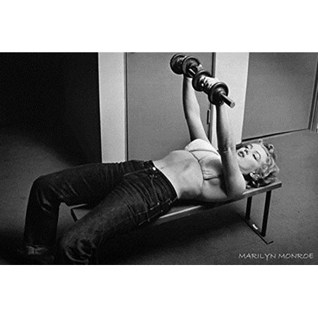 Marilyn Monroe - Working out Lifting Weights 36x24 Photograph Art Print Poster Hollywood Legend Sexy - Wholesale Marilyn Monroe