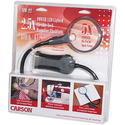 Carson Optical BoaMag LED Lighted Flexible Neck Magnifier