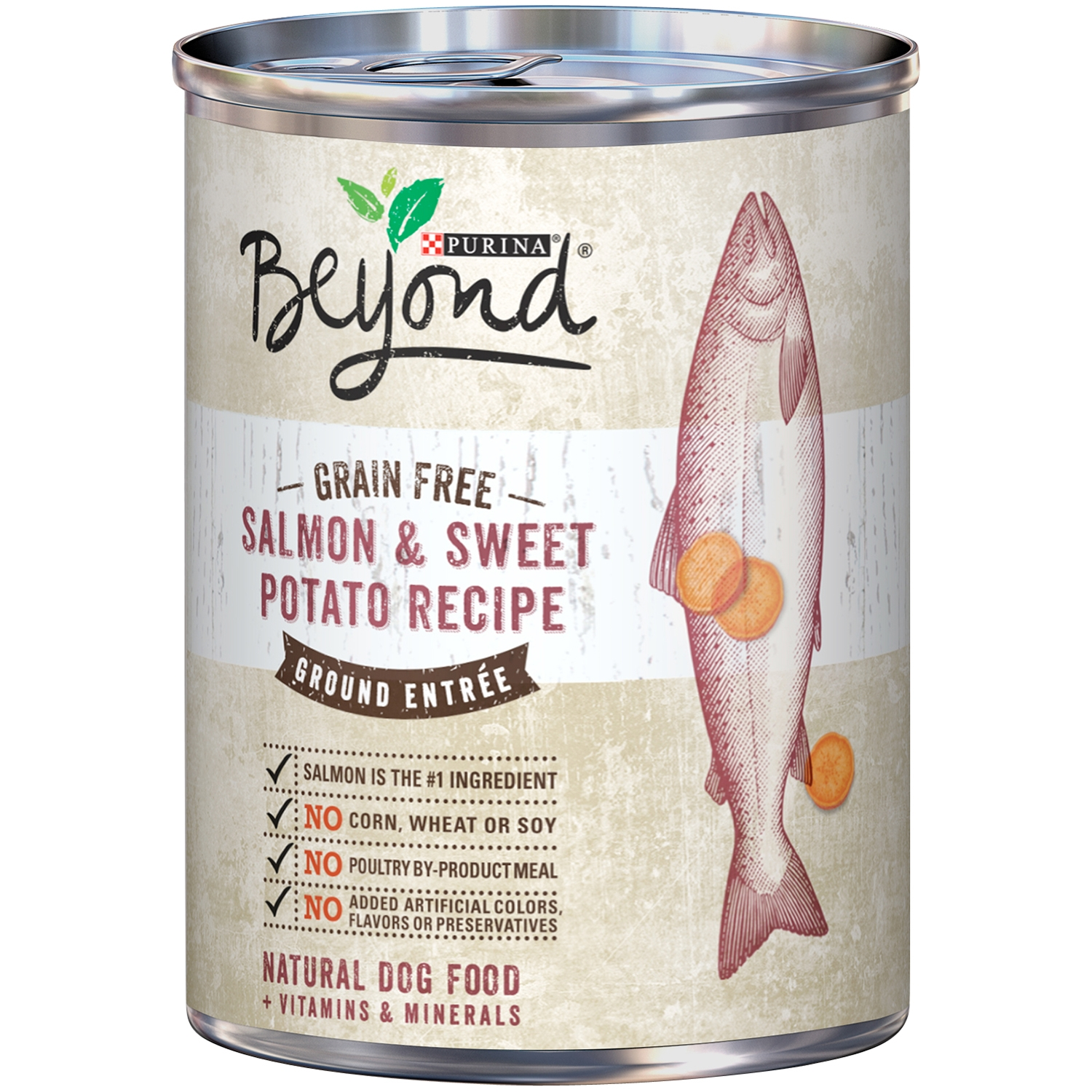 Purina Beyond Grain Free Salmon & Sweet Potato Recipe Ground Entree Dog Food 13 oz. Can