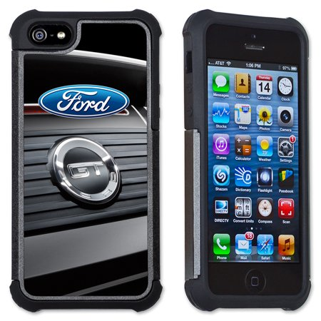 Apple iPhone 6 Plus / iPhone 6S Plus Cell Phone Case / Cover with Cushioned Corners - Ford Mustang GT Trunk Logo