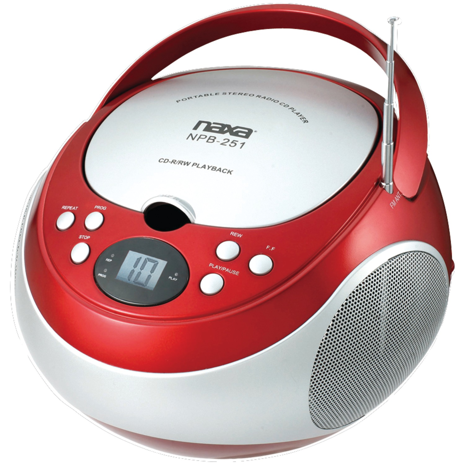 Naxa NPB251BK Portable CD Player with AM/FM Radio (Black)