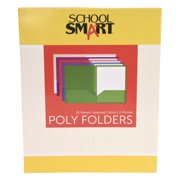 School Smart Portfolio Folders Without Fasteners, 8-1/2 x 11 Inches, Pack of 25