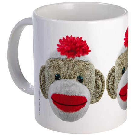 CafePress - Sock Monkey Face Mug - Unique Coffee Mug, Coffee Cup - Halloween Monkey Painted Faces