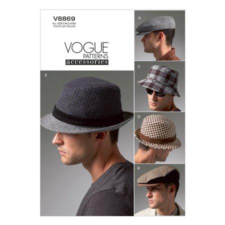 d7f649a1b6a McCall Pattern - Vogue Men s Hats-All Sizes in One Envelope - Walmart.com