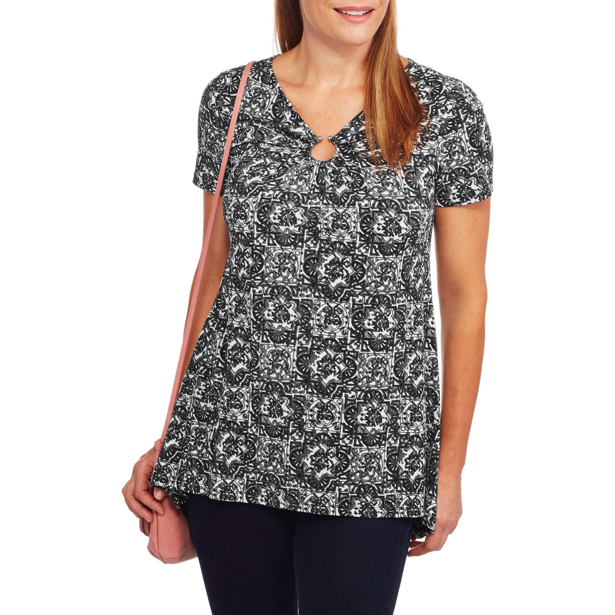 White Stag Women's Printed Tunic With Sharkbite Hem