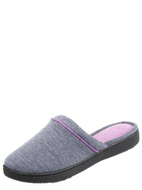 Isotoner Women's Jersey Knit Clog With 360 Surround Comfort Slipper