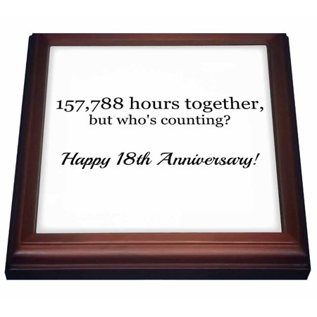 3drose Happy 26th Anniversary 227916 Hours Together Trivet With