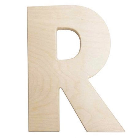 Large Unfinished Wood Letter: R - 12 inches ()