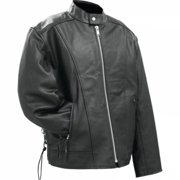 Rocky Mountain Hides Solid Genuine Buffalo Leather Motorcycle Cruiser Jacket- Xl