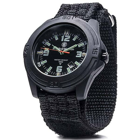 Smith and Wesson Smith & Wesson Soldier Swiss Tritium Black Nylon Strap Watch - SWW-12T-N