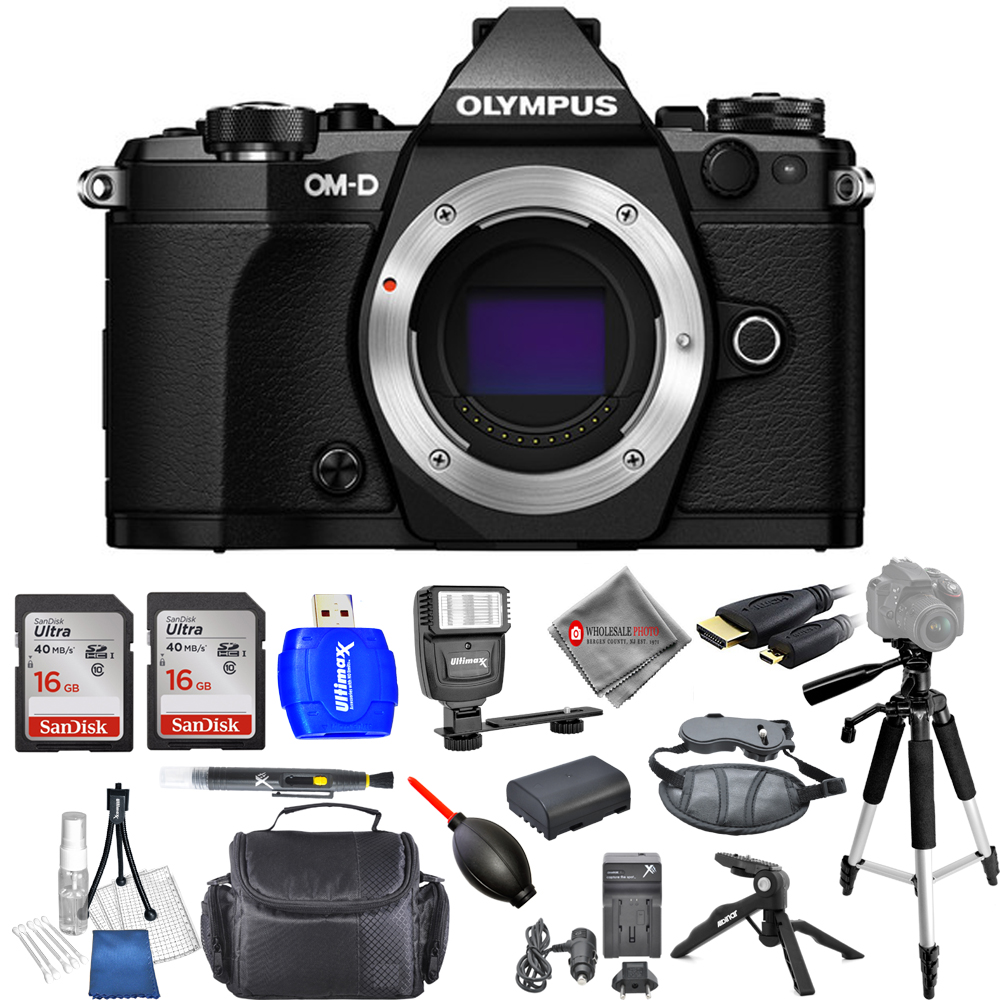 Olympus OM-D E-M5 Mark II Mirrorless Micro 4 3 Camera (Body) USA MODEL PRO KIT by Olympus