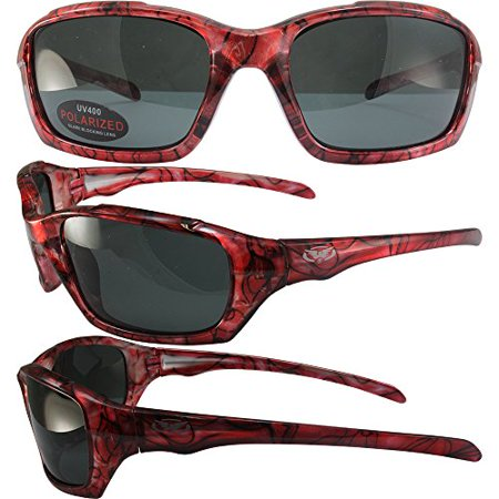BlueWater Polarized Bahama Mama 1A Sunglasses Pink Frames Smoke (Bahama Sunglasses)