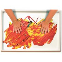 """Roylco Fingerpaint No-Mess Paint and Play Tray, 12"""" x 18"""", Plastic, White"""
