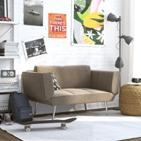 DHP Euro Loveseat Futon with Magazine Storage, Multiple Colors