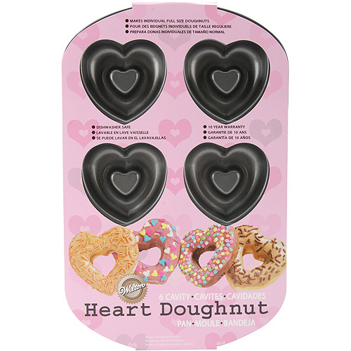 Wilton 6-Cavity Doughnut Pan, Heart 2105-0632