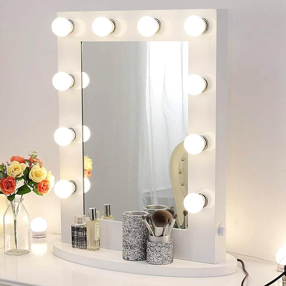 Chende Gloss White Makeup Vanity Mirror