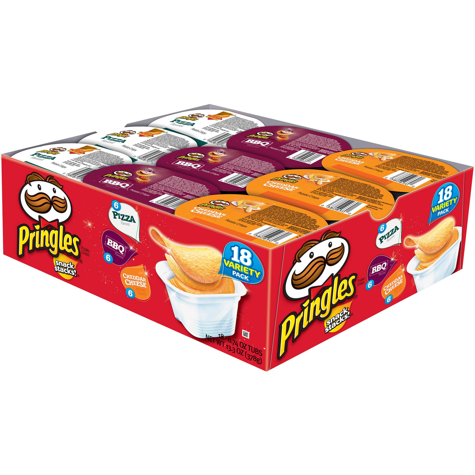 Pringles Snack Stacks! Variety Pack Potato Crisps Chips, 18 ct 13.3 oz