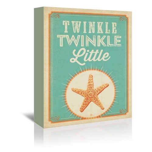 East Urban Home Twinkle Twinkle Vintage Advertisement on Wrapped Canvas