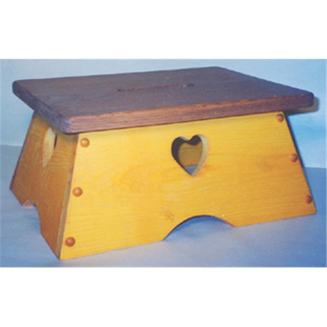 THE PUZZLE-MAN TOYS W-2302 Children's Wooden Play Furniture 11 x 15 in. Safety Step-Stool by Charlies Woodshop