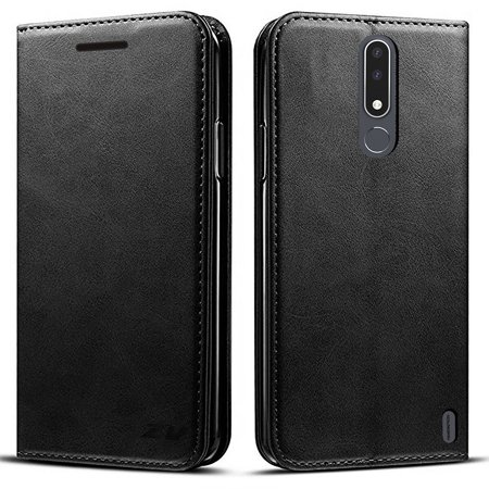 Kaleidio Case For Nokia 3.1 Plus [MyJacket] PU Leather Hybrid Wallet [Card Slot][Stand Feature] Flip Folio Cover w/ Overbrawn Prying Tool [Black]