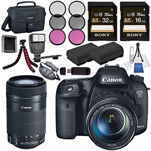 Canon EOS 7D Mark II DSLR Camera with 18-135mm STM Lens 9...
