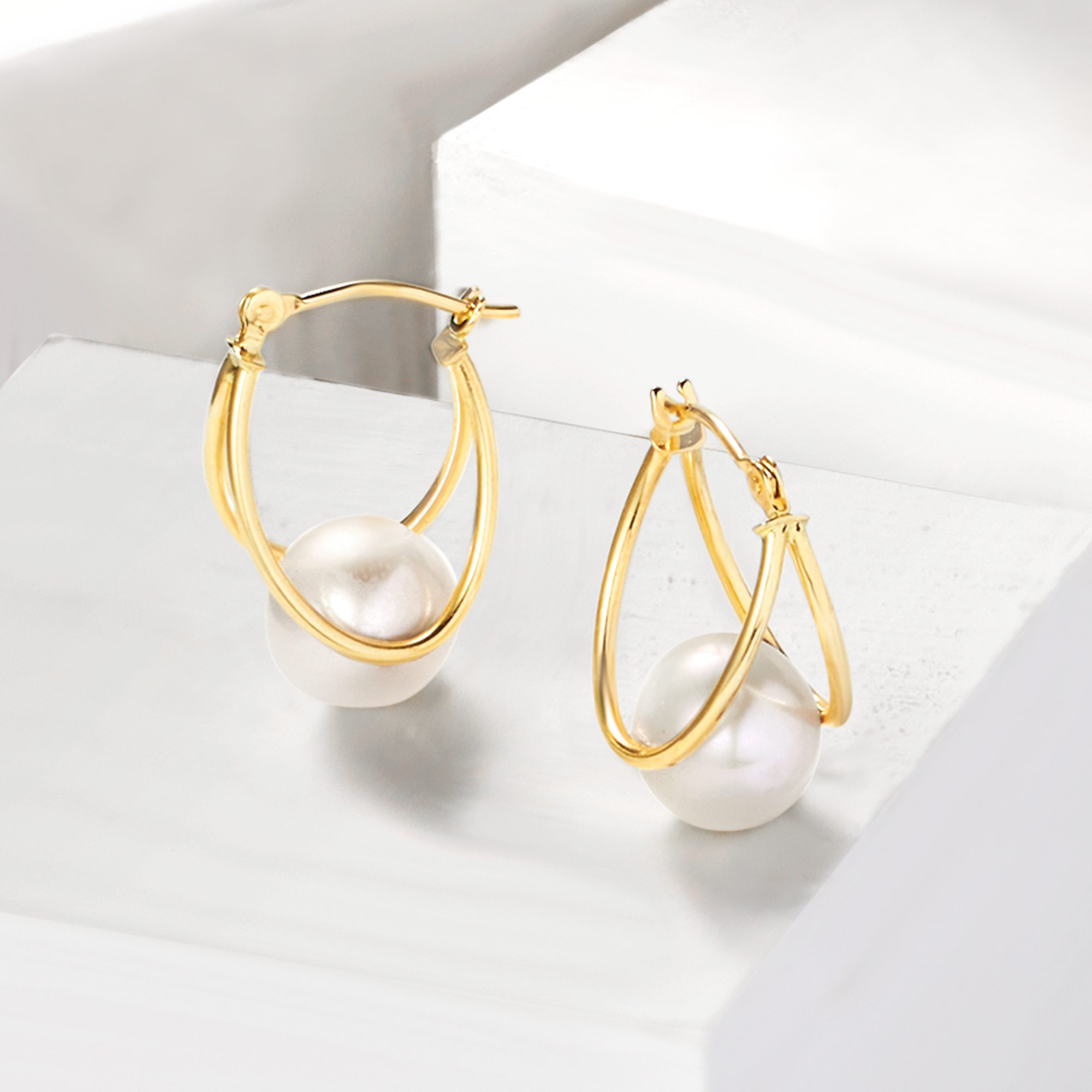 Gold Silver Popular Quality 3//4 Hoop Earring with Stones Jewelry For Women Gift