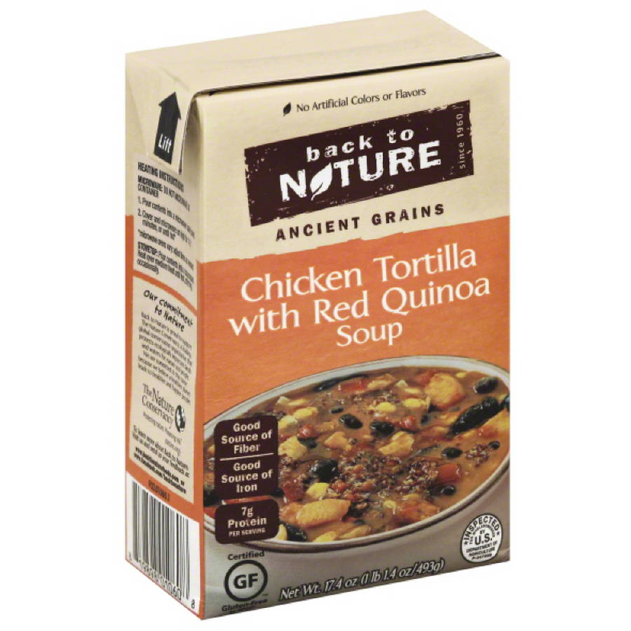 Back to Nature Ancient Grains Chicken Tortilla With Red Quinoa Soup, 17.4 oz, (Pack of 6)