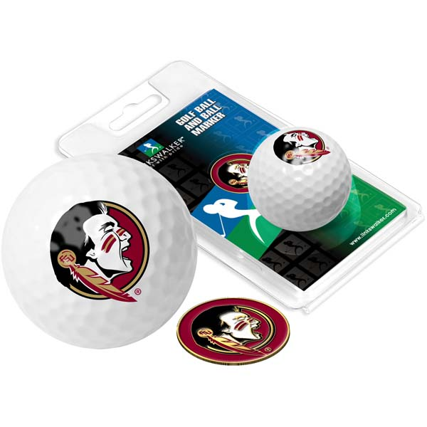 Florida State Golf Ball One Pack with Marker