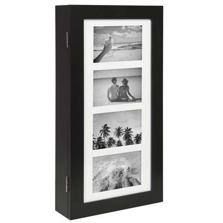 Best Choice Products Wall Mounted Jewelry Armoire Cabinet Organizer W/ 4 Picture Frames (Wall Jewelry Armoire)