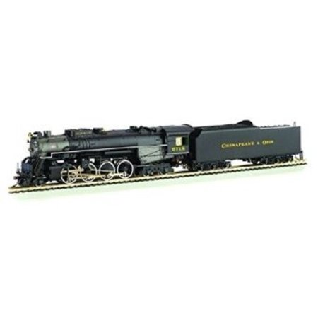 - Bachmann 2-8-4 Berkshire Steam Locomotive & Tender -- DCC Sound Value Equipped C&O KANAWHA #2718 - Multi-Colored