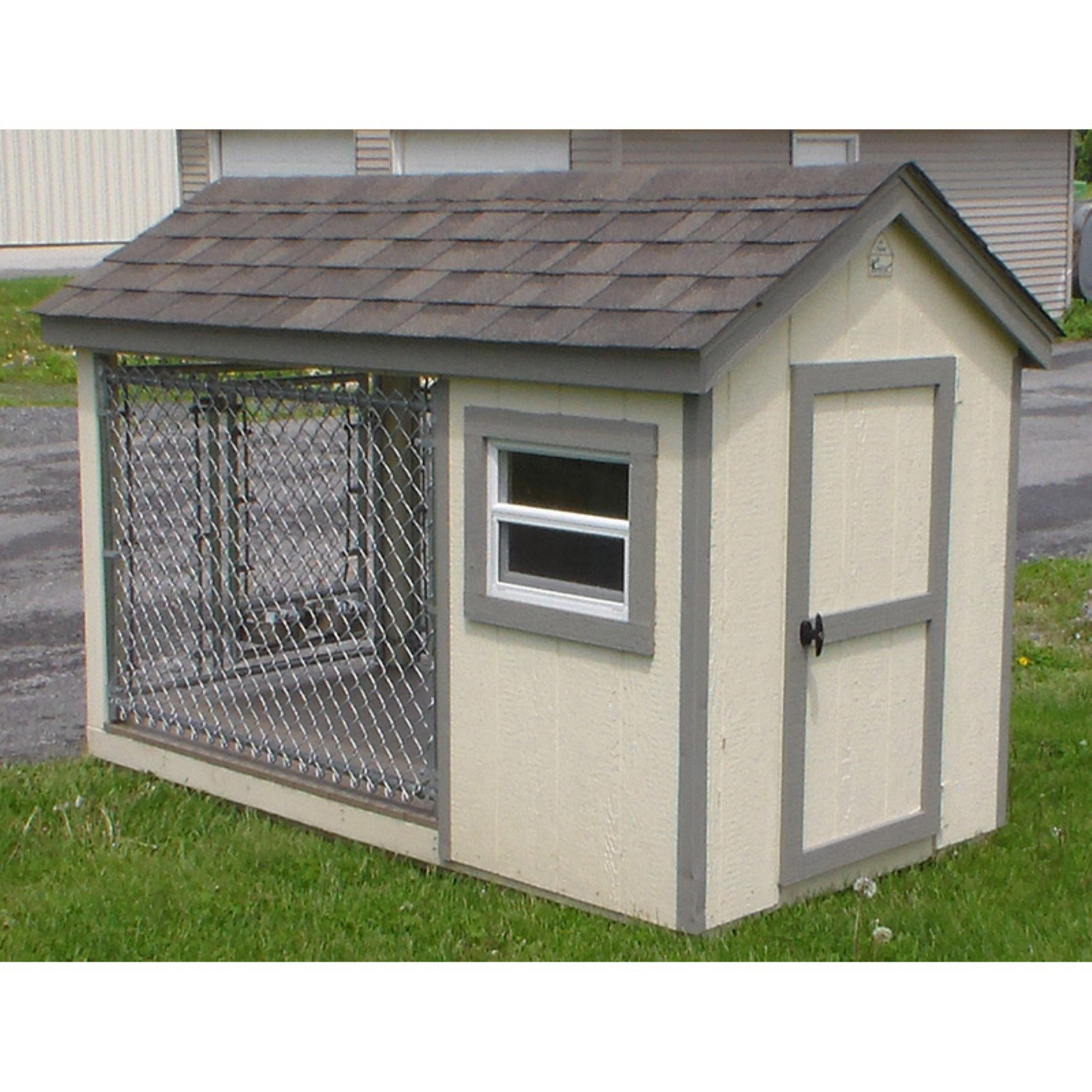 A & L Furniture K-9 Kennel with Chainlink Run