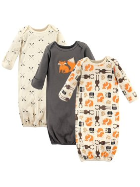 Hudson Baby Gowns, 3pk (Baby Boys or Baby Girls, Unisex)