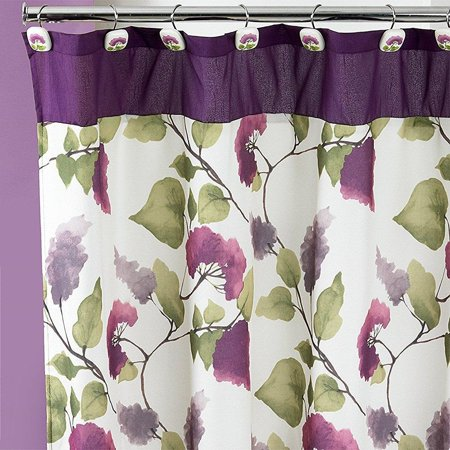 Popular Bath Jasmine, Shower Curtain Plum