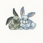"Brer Rabbits Counted Cross Stitch Kit, 4.25"" x 3.5"", 14 Count"