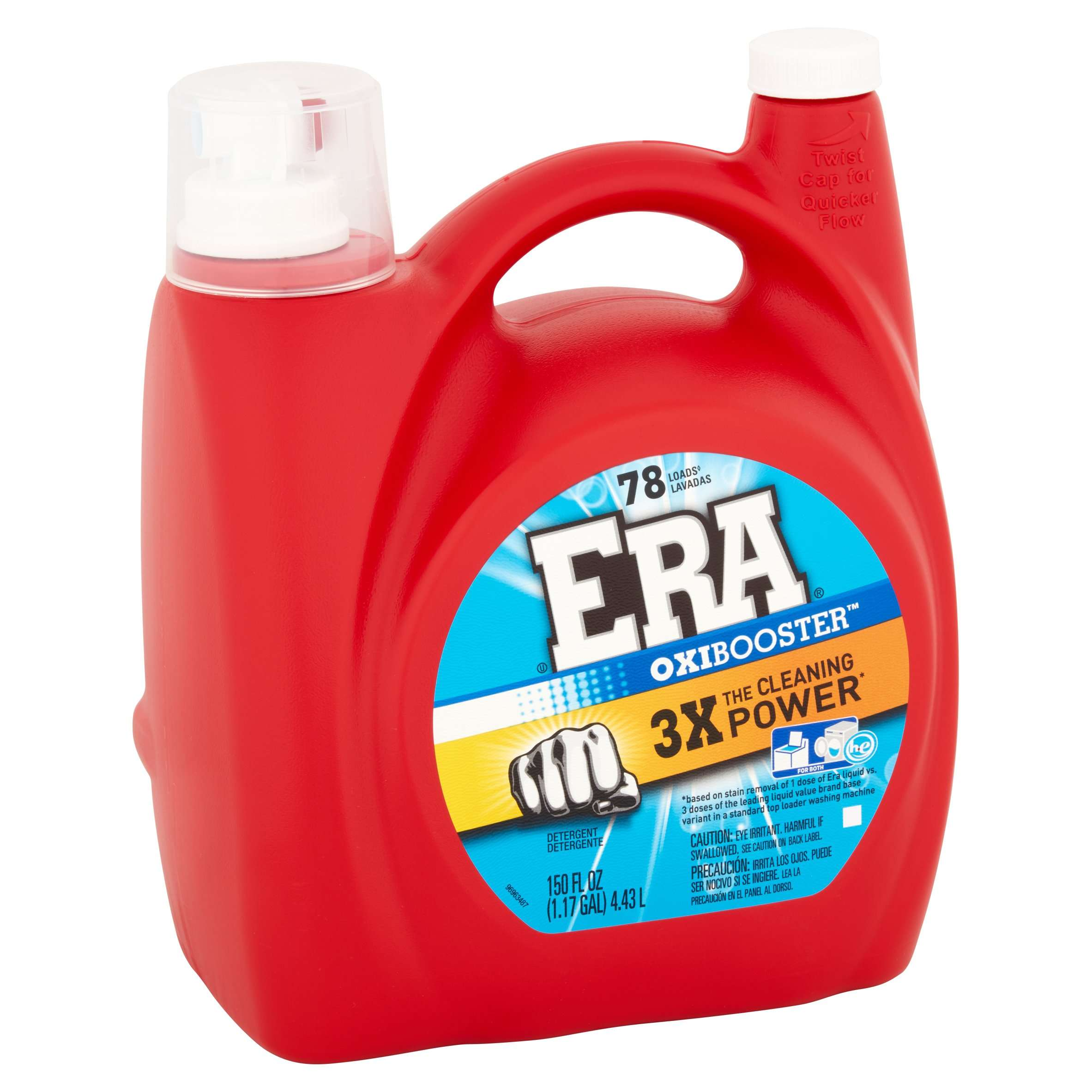 Era Oxibooster Liquid Laundry Detergent 78 Loads 150 Fl Oz