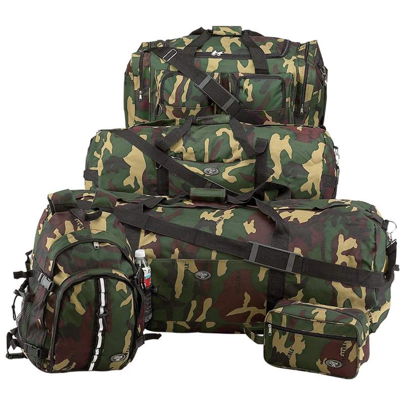 Extreme Pak™ Invisible® Pattern Camouflage Water-Resistant 5pc Luggage Set