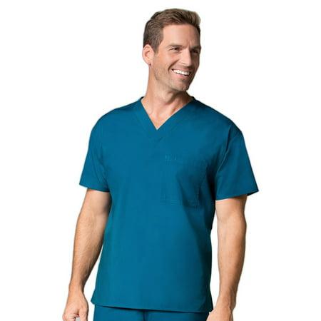 0ec40a9d0e6 Maevn Uniforms - Core by Maevn Unisex V-Neck 1 Pocket Solid Scrub Top -  Walmart.com