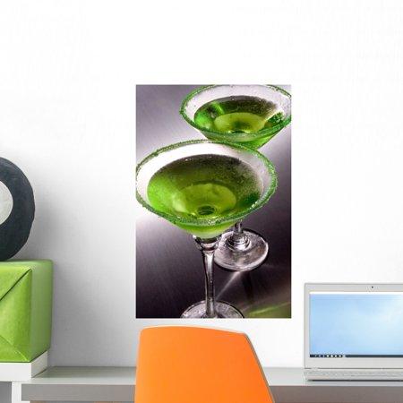 Green Apple Martini's Wall Mural by Wallmonkeys Peel and Stick Graphic (18 in H x 12 in W) WM336512 Green Apple Peel