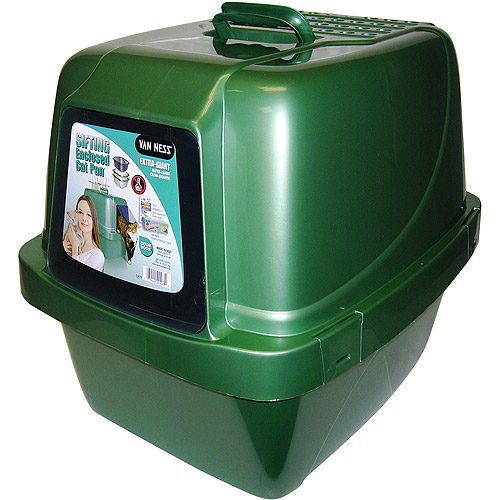 Giant Sifting Enclosed Cat Pan Walmart Com