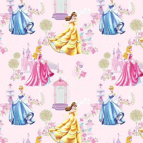 Disney Princess Traditional Shimmering Beauty Scenic Fabric