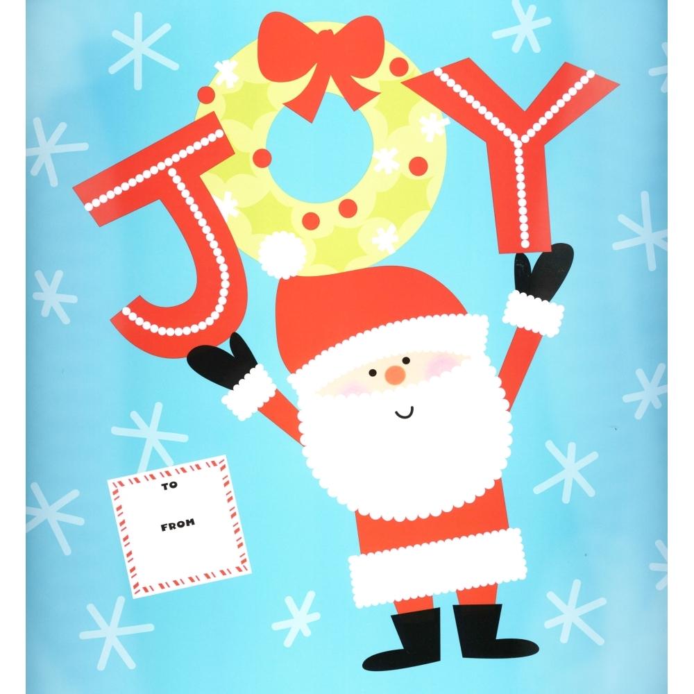 Joy Santa Wrapper, Calendar Wrappers by Calendar Ink