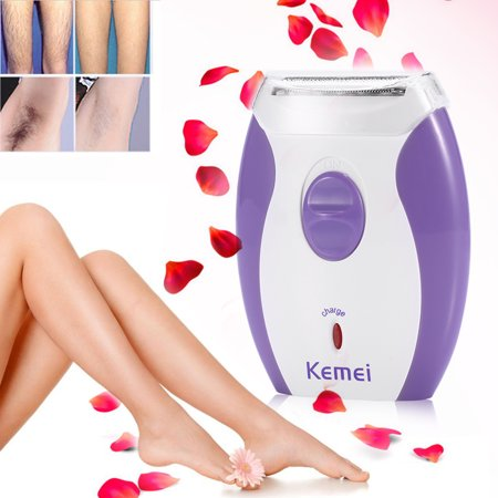 KEMEI Women Rechargeable Hair Removal Lady Electric Body Epilator Leg Arm Shave Machine, Lady